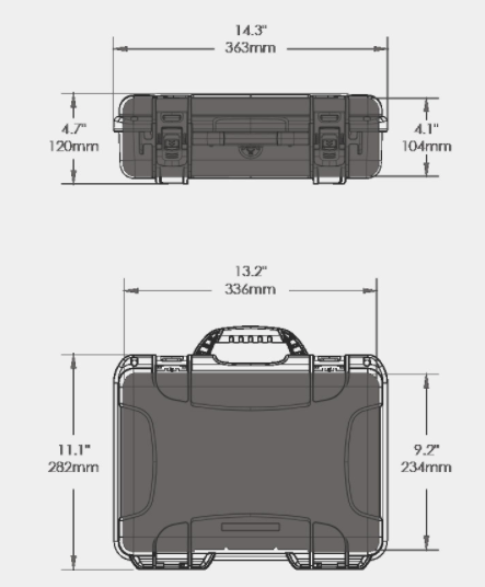 910 Black Hard Case for photo and video