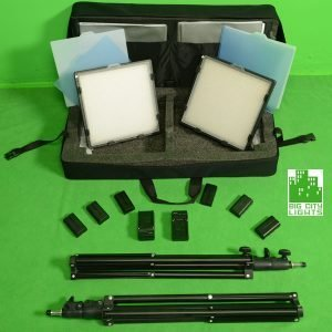 Mini Panel Travel Kit sony Batteries light stands travel kit LED Panel toronto Vancouver Canada Montreal Calgary Edmonton USA