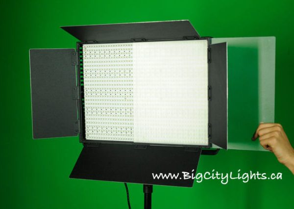 LED panel light with diffuser