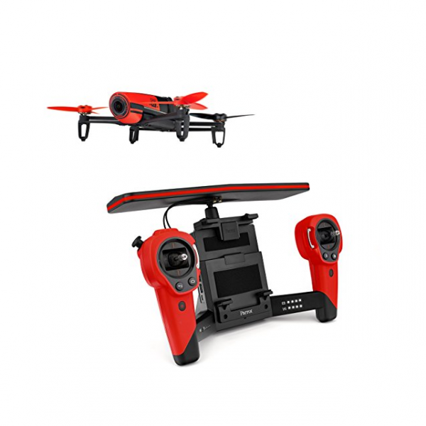 Red parrot drone with controller