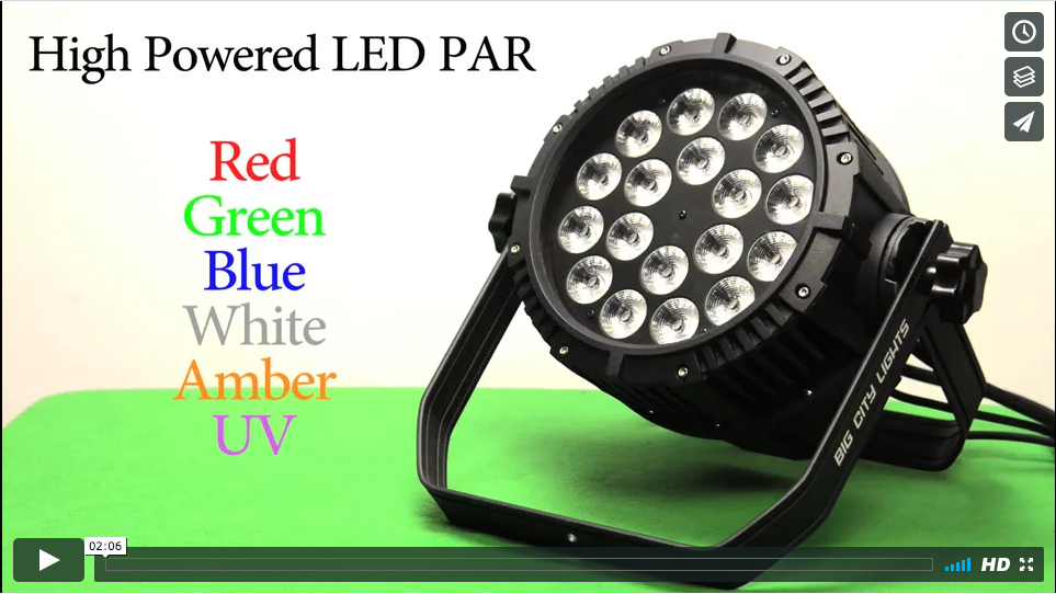LED PAR, Toronto, Canada, Rental, comparison, waterproof,
