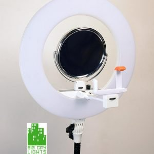 White Ultimate Diva Ringlight with Mirror and Cell Holder